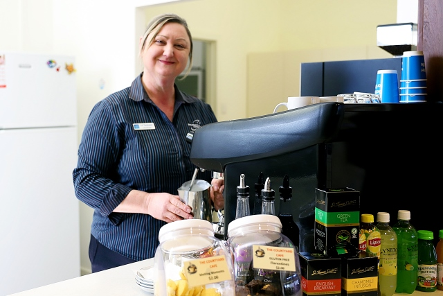 Lil Tankosic, Cafe Manager, The Pines Lodge and Bucklands Residential Care
