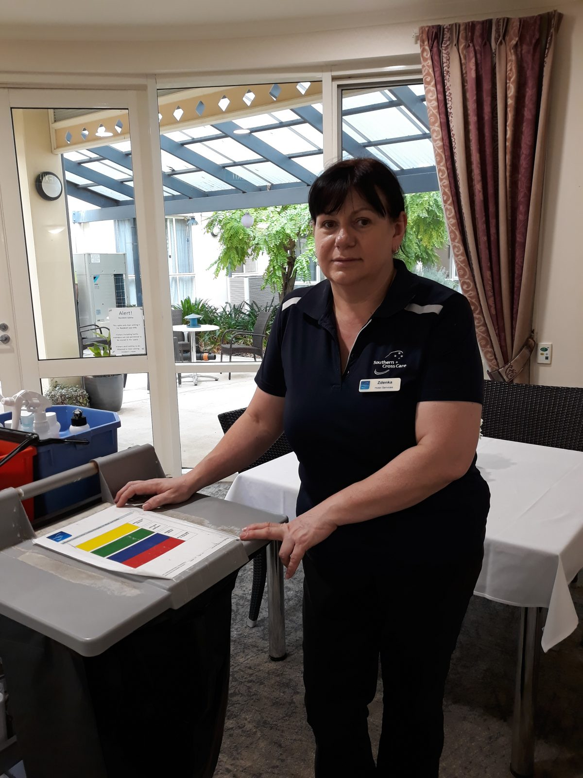 Zdenka Baird, Cleaner, The Pines Lodge Residential Care